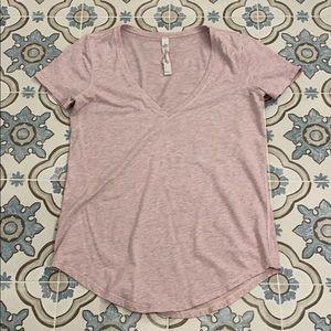 Lululemon Love Tee - heathered pink size 2